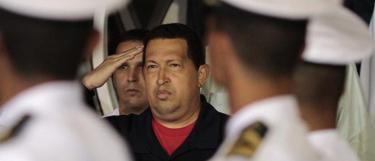 Chávez, a su regreso sorpresa a Venezuela. | Efe