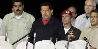 Chávez, a su llegada a Caracas el pasado sábado. | EFE