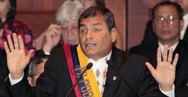 Rafael Correa, en su discurso en la Asamblea Nacional. | EFE