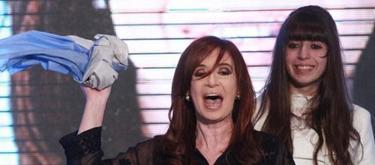 Cristina Fernández celebra junto a su hija Florencia. | EFE