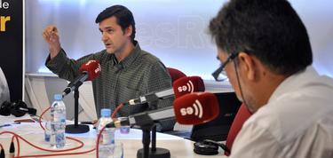 Javier Somalo, junto a Luis del Pino en Debates en Libertad | D. Alonso / LD