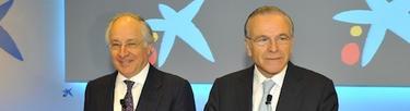 Juan María Nin e Isidro Fainé, en la presentación de resultados de la entidad.