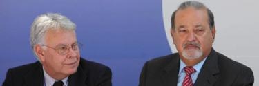 Felipe González y Carlos Slim. | Archivo