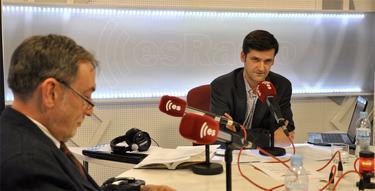Javier Somalo, junto a Eugenio Nasarre durante el programa de esta semana | David Alonso