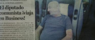 La Gaceta publica la foto del eurodiputado