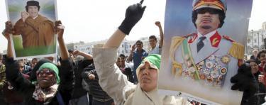 Seguidores en Gadafi en Libia. | EFE