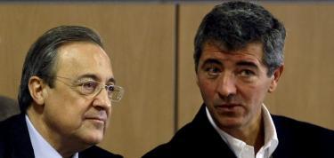 Florentino Pérez y Gil Marín, en una reunión de la LFP en 2009.   Reuters