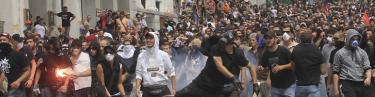 Los 'indignados' griegos rechazan los recortes.