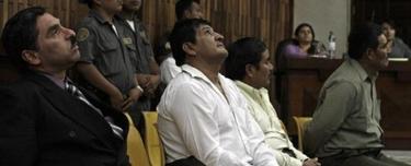 Los acusados Carías, Martínez, Gualip y Pop Sun escuchan la sentencia. | EFE