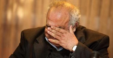 Las lágrimas del ministro de Defensa de Uruguay, Eleuterio Fernández Huidobro. | EFE