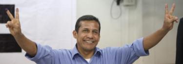 Ollanta Humala, tras votar este domingo.   EFE