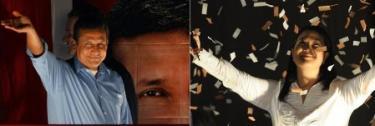 Ollanta Humala y Keiko Fujimori, tras conocer los resultados. | EFE
