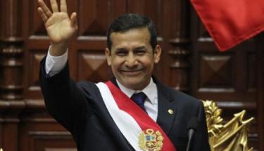 Ollanta Humala, tras ser investido presidente del Perú. | EFE