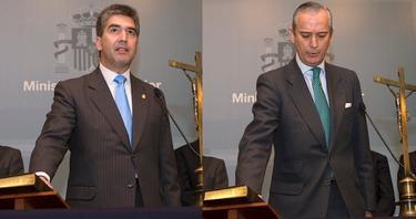 Ignacio Cosidó y Arsenio Fernández de Mesa, durante la jura de su cargo. | Mir