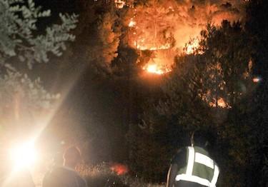 Incendio declarado en Ibiza | EFE