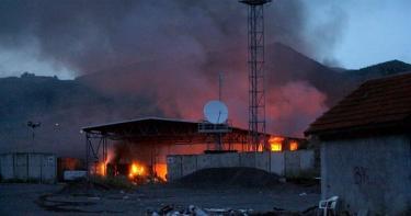 El puesto de control de Jarinje, en la frontera entre Kosovo y Serbia. | EFE