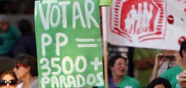 Una pancarta contra el PP | EFE