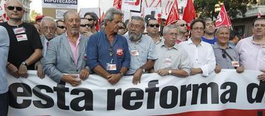 La cabecera de la marcha. | EFE