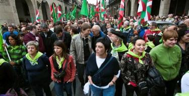Manifestación independentista en Guernica. | EFE