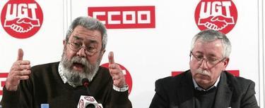 Toxo y Méndez, durante la rueda de prensa de este sábado  | EFE
