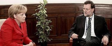 Merkel y Rajoy, en un reciente encuentro. | Archivo