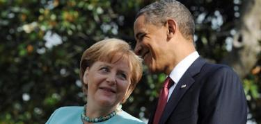 Barack Obama y Angela Merkel, este martes, en Washington.   Efe