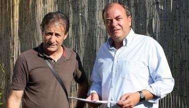 Pedro Escobar y José Antonio Monago.