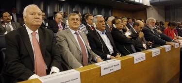 Moratinos, durante la jornada de elección del nuevo director de la FAO   EFE