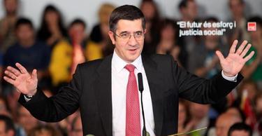 López, en un mitin del PSOE en Cataluña | EFE