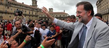 Mariano Rajoy en Santiago. | PP