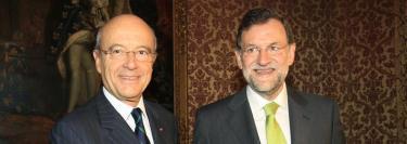 Alain Juppé con Mariano Rajoy. | EFE