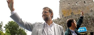 Rajoy al finalizar su discurso este sábado en Pontevedra | EFE