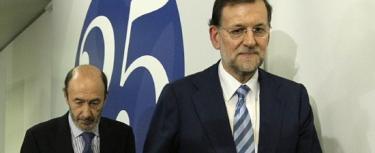 Rajoy y Rubalcaba, en una imagen de archivo.