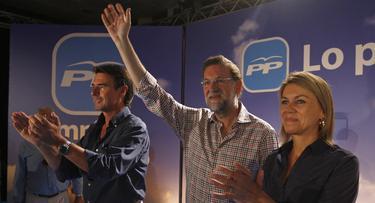 Soria, Rajoy y Cospedal en Las Palmas. | PP
