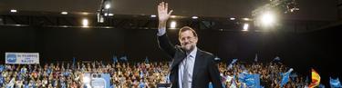 Rajoy, en el mitin de Vigo. | PP