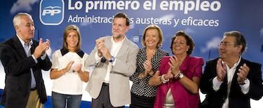 Rajoy, en Zaragoza, con su plana mayor | Tarek/ PP