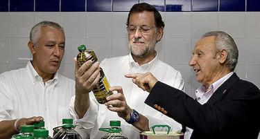 Rajoy, en un momento de su visita a Jaén | Tarek/PP