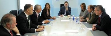 Mayor Oreja, en primer término, en el Comité de Dirección | Diego Crespo