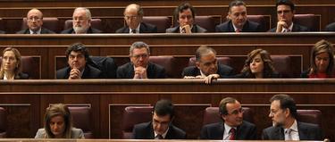 Posibles ministros, con Rajoy, en el hemiciclo | PP