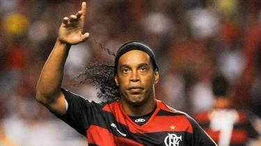 Ronaldinho celebra un tanto con el Flamengo, su actual club. | EFE
