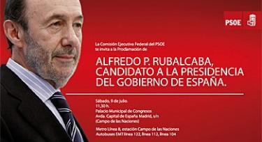 La invitación del PSOE