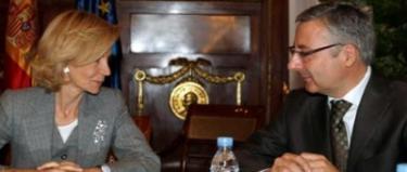 Elena Salgado y José Blanco en una imagen de archivo | EFE
