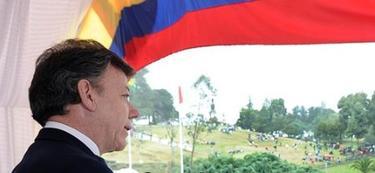 Santos, durante su discurso por la Batalla de Boyacá. | EFE