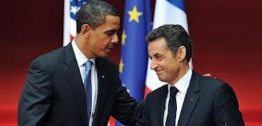 Obama (EE.UU.) y Sarkozy (Francia)