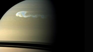 La mancha blanca en el planeta Saturno. | NASA