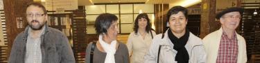 Tasio Erkizia, a la derecha, en un acto pro Bildu del pasado 5 de mayo. | EFE