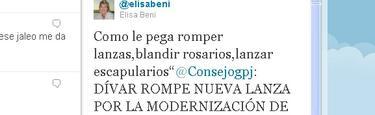 El Tuit de Elisa Beni