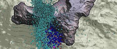 Gráfico con los movimientos sísmicos en el Hierro.   IGN