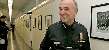 William Bratton, en las instalaciones de la policía de Los Ángeles