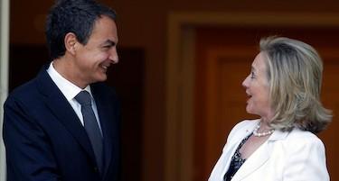 Zapatero y la secretaria de Estado de EEUU | EFE